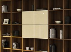 Contemporary panelled fronts can elevate the aesthetics of your shelving