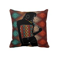 Fashion Silhouette 2 Sided Pillow