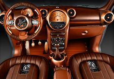 Interesting interior - Steampunk Mini Cooper Countryman by Carlex Design (1)