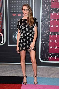 Cara Delevingne wearing Saint Laurent at the 2015 MTV VMAs