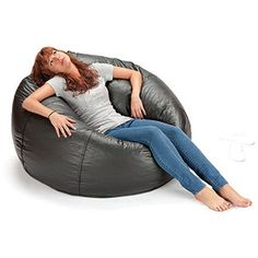 """132"""" Round Extra Large Shiny Bean Bag, Multiple Colors"""
