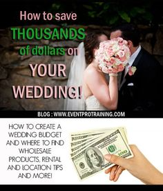 This is a blog that shows you literally how to save thousands of dollars on your wedding... will thank myself for posting this someday.