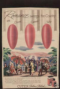 1940 Cutex Nail Polish ad