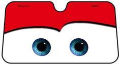 Amazon.com: Disney Pixar Cars Lightning McQueen Front Car Windshield Sun shade: Toys & Games