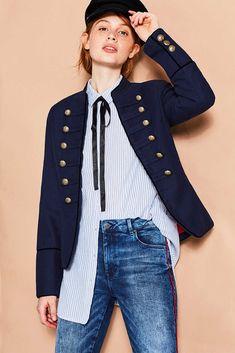 edc - Cotton cropped jacket, military style