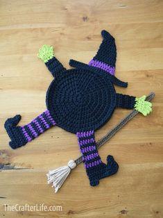 Crochet Fall Coasters, Crochet Coaster Pattern, Crochet Amigurumi Free Patterns, Free Crochet, Knitting Patterns, Crochet 101, Crochet Stitch, Halloween Yarn, Adornos Halloween