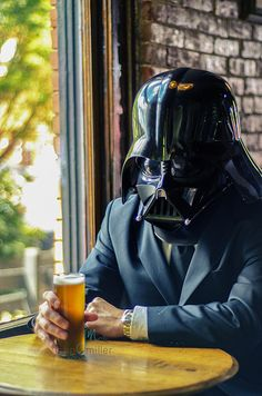 May the 4th, of July, be with you  Darth Vader drinking beer