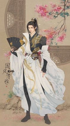 """changan-moon: """"逆水寒 """" Art from the Chinese Wuxia-themed MMORPG Treacherous Waters/Ni Shui Han. Chinese Drawings, Chinese Art, Character Inspiration, Character Art, Fantasy Art Men, Handsome Anime, Boy Art, Hanfu, Anime Outfits"""