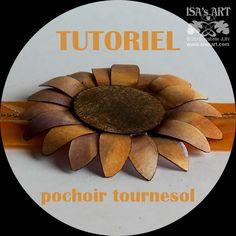 ISA'sART: POCHOIRS - P080 FLEUR Tournesol (TUTO) et pochoir cadeau du mois