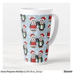 Santa Penguins Holiday Latte Mug Holiday Cards, Christmas Cards, Christmas Decorations, Coffee Drinks, Coffee Mugs, Latte Mugs, Beer Mugs, Christmas Items, Holiday Treats