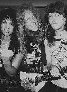 A very young Metallica! Kirk, James, Lars