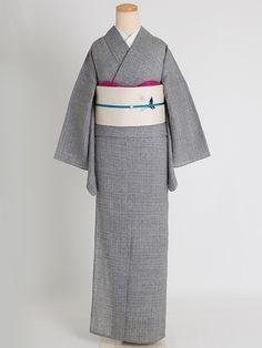 くるり / 竹麻揚柳【寄木格子】 Japanese Outfits, Japanese Fashion, Kimono Fashion, Fashion Outfits, Womens Fashion, Japanese Costume, Kimono Dress, Yukata, Hanfu