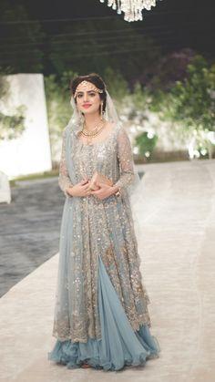 My Dressing Style: stylish dress for bridal. Indian Wedding Gowns, Asian Wedding Dress, Indian Gowns Dresses, Pakistani Wedding Outfits, Pakistani Wedding Dresses, Bridal Outfits, Pakistani Bridal Lehenga, Pakistani Dress Design, Walima Dress