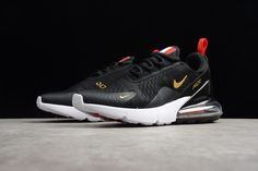 "timeless design 3d8f1 753df Nike Air Max 270 Flyknit ""FIFA World Cup Russia 2018"" French Black Gold  AH8050-117"