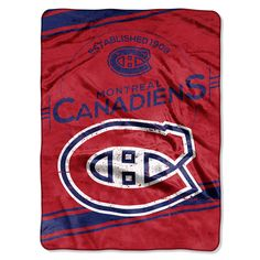 NHL Montreal Canadiens Stamp 60 inch x 80 inch Raschel Throw, Multicolor Faux Fur Throw, Montreal Canadiens, Fan Gear, Chicago Cubs Logo, Nhl, Cuddling, Plush, Stamp, Sports