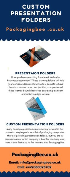 Presentation folders offer an excellent way to make your products and services reach to the target audience in a more compiled and effective way. #customfilefolder #customcheapsfolder #CustomPrinting #WholesalePresentationFolders #WholesaleCustomPresentationFolders #CustomPackagingServices #CustomLogoBoxes #CustomPackaging #CustomPresentationFolders #PresentationFolders Custom Presentation Folders, Business Presentation, Packaging Services, Custom Packaging, File Folder, Custom Logos, Hold On, Surface, Window Boxes