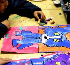 I am SO EXCITED to write this post! We have been learning about one of my favorite artists, George Rodrigue, for the past few months. Blue Dog Art, Blue Art, Third Grade Art, Second Grade, Smart Class, Art History Lessons, Teaching Art, Teaching Ideas, School Art Projects