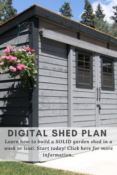 Download our free storage shed plans with popular sizes and different designs. Includes easy to follow guidelines and printable PDFs. Diy Storage Shed Plans, Diy Shed, Build Your Own Shed, Backyard Sheds, Tool Sheds, Building A Shed, How To Plan, Digital, Simple