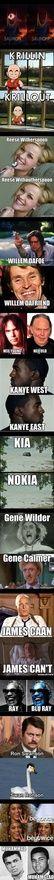 I love jokes of the Kanye East - Kanye West variety. for-laughs