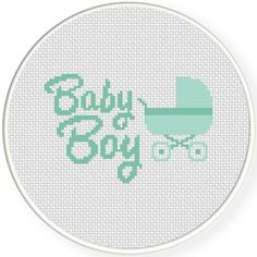 FREE for March 6th 2016 Only - Baby Boy Cross Stitch Pattern