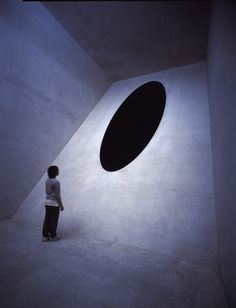 Is there a hole, or is it deep black pigment? Art by Anish Kapoor.