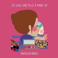"""Je suis une fille à make-up et vous ?! Retrouvez les produits """"Les filles à"""" sur www.lesfillesa.com mais aussi à La (Petite) Boutique à Paris. #lesfillesa #natachabirds @jen_lapetiteboutique #Padgram"""