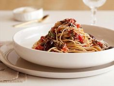 Get Pasta Puttanesca Recipe from Cooking Channel