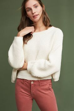 Slide View: 1: Cropped Baja Pullover