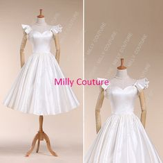 Hey, I found this really awesome Etsy listing at https://www.etsy.com/listing/169575583/1950s-inspired-wedding-dress-vintage-tea