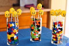 Lego Marshmallow Heads Lego Movie Party, Lego Birthday Party, Birthday Parties, Lego Head, Marshmallow, Cool Kids, More Fun, Wedding Reception, Tasty