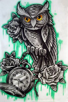 owl n pocket watch by karlinoboy                                                                                                                                                      Más