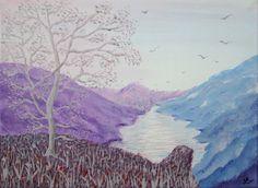 Original acrylic painting - Silver Tree 1 (acrylic sponge) - canvas 16 x 12 £15.00 from Paintingsetc