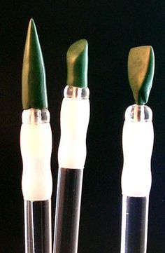 Miniature Sculpting Tools - Home Made. ***extra tip, this can be a good way to save money temporarily, but the reason for getting a silicone tip sculpting tool is green stuff doesn't stick to it for both smother and better sculpting.***