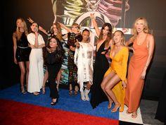 Taylor with Gigi Hadid, Martha Hunt, Hailee Steinfeld, Cara Delevigne, Selena Gomez, Serayah, Lily Aldridge, Mariska Hargitay, and Karlie Kloss at the MTV VMAs 2015! 8.30.15