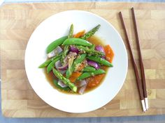 Mixed vegetables #thai with oyster sauce for lunch.