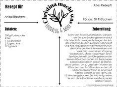 Anisplätzchen, deckeln, Plätzchenzeit, Plätzchen, Kekse, Anis, Gewürz, alt, altes Rezept, einfach, lecker, schnell, Deckelplätzchen, Ostpreußen, ostpreußisch, Küche,
