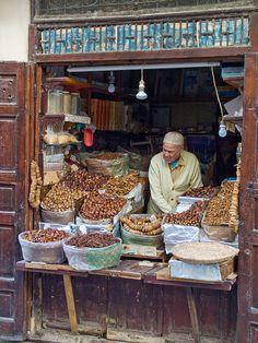 The Date Seller, Fez, Morocco.  Photo:; Gerry Balding, via Flickr
