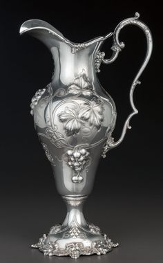 A BLACK STARR & FROST SILVER WATER PITCHER, New York, New York,circa 1880. Marks: STERLING, 1840B,