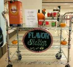 Flavor Station at BMHS!!  Great idea for schools.