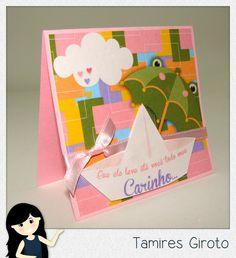 Scrapbook by Tamy- DIY, Coisas fofas e tudo sobre Scrapbook artesanal, híbrido e digital!: Cartão fofo barquinho