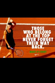Nike - Make it count - Maria Sharapova Nike Tennis, Play Tennis, Maria Sharapova, Tennis Wallpaper, Nike Motivation, Tennis Funny, Tennis Humor, Sports Advertising, Law Of Attraction Planner
