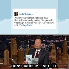 "fallontonight: ""You don't know me, Netflix!"""