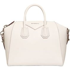 GIVENCHY Medium Antigona Grained Leather Bag - White (15.460 VEF) ❤ liked on Polyvore featuring bags, handbags, shoulder bags, purses, bolsas, accessories, white, white handle bags, handle bag and givenchy purse