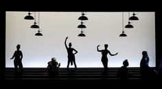 A scene from Robert Wilson's production of Bertolt Brecht's Threepenny Opera now performing in Sao Paulo, Brazil!