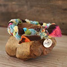 Braided fabric bracelet <3