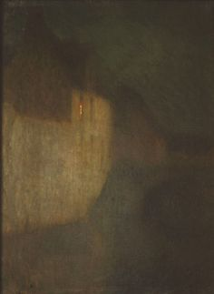 Henri le Sidaner: By the Light of the Moon in Bruges, 1898.
