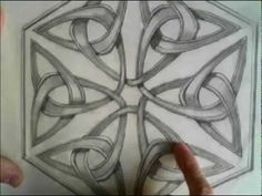 Celtic Design 18 (six freehand trefoils linked in a hexagon) - YouTube