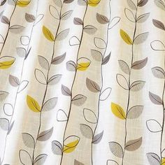Ferle Embroidery - Citrus fabric, from the Fjord collection by iLiv Free Fabric Samples, Made To Measure Curtains, Door Curtains, Embroidery Fabric, Roman Blinds, Textiles, Wallpaper, Interior, Prints