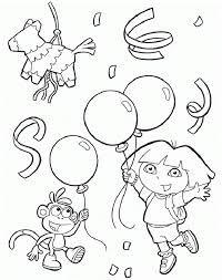 Dora The Explorer Swiper Coloring Page