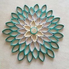 Gray orange wall art Paper flower wall hanging White orange home decor Modern accentsModern home decor Round wall art Teal wall decor Modern decor for bedroom livin groom hallway bathroomBigger for a photo booth bgcreations with toilet paper rolls Paper Towel Roll Crafts, Toilet Paper Roll Art, Paper Wall Art, Toilet Paper Roll Crafts, Toilet Paper Tubes, Paper Towel Rolls, Diy Paper, Teal Wall Decor, Teal Home Decor